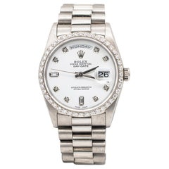 Rolex Oyster Perpetual Day-Date 54 Factory Diamond Set President Bracelet 18K