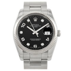 Rolex Oyster Perpetual Day Date Diamond Dial Watch 115234BKDO