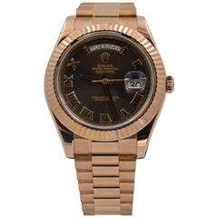 Rolex Oyster Perpetual Daydate II Rose Gold Watch