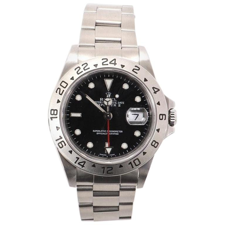 Rolex Oyster Perpetual Explorer II Automatic Watch Stainless Steel 40