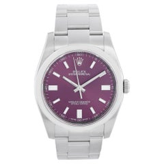 Rolex Oyster Perpetual Grape Men's Stainless Steel Watch 116000