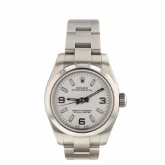 Rolex Oyster Perpetual Ladies Steel Automatic Watch White Dial 176200 Serial M