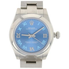 Rolex Oyster Perpetual Ladies Watch, Stainless Steel Mechanical 2Yr. Wty 177200