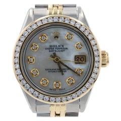 Rolex Oyster Perpetual Ladies Wristwatch 6917 Stainless & 18k Gold Dias 1Yr Wnty