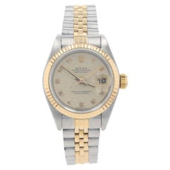 Rolex Oyster Perpetual Ladies Wristwatch 69173 Stainless & 18k Gold 1 Year Wnty
