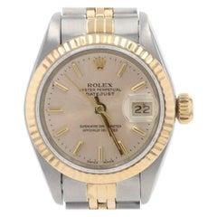 Rolex Oyster Perpetual Ladies Wristwatch 69173, Stainless & 18k Gold 1 Yr Wnty