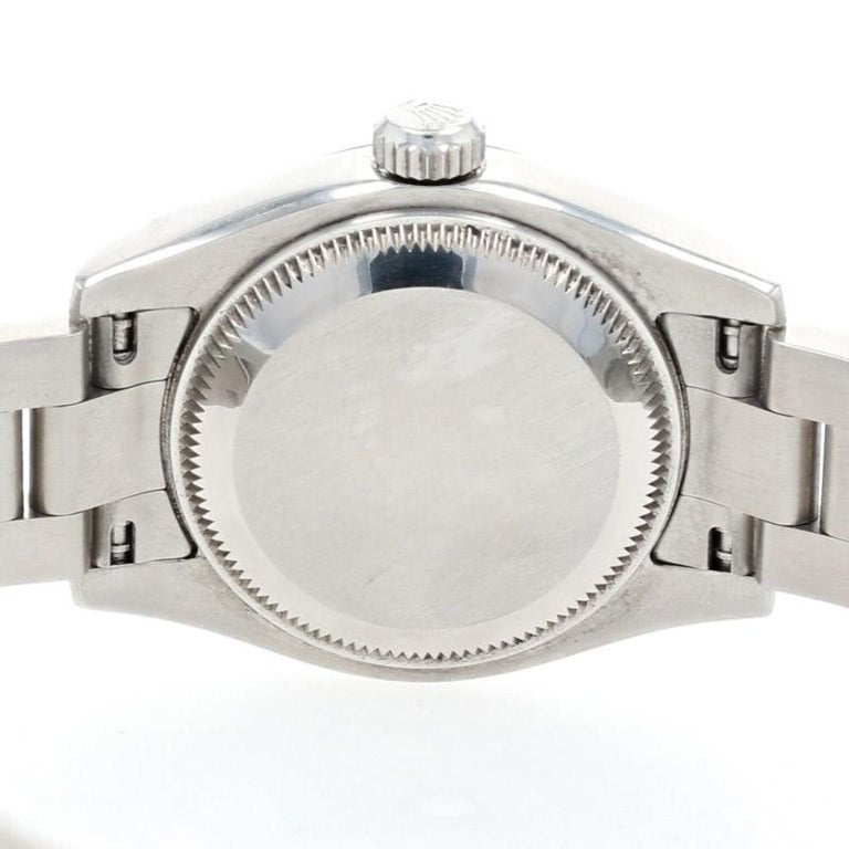 Rolex Oyster Perpetual Ladies Wristwatch, Stainless Automatic 2 Yr Wnty 176234 For Sale 3