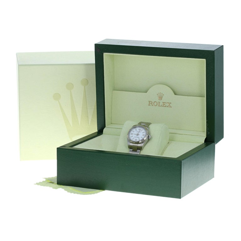 Rolex Oyster Perpetual Ladies Wristwatch, Stainless Automatic 2 Yr Wnty 176234 For Sale 4