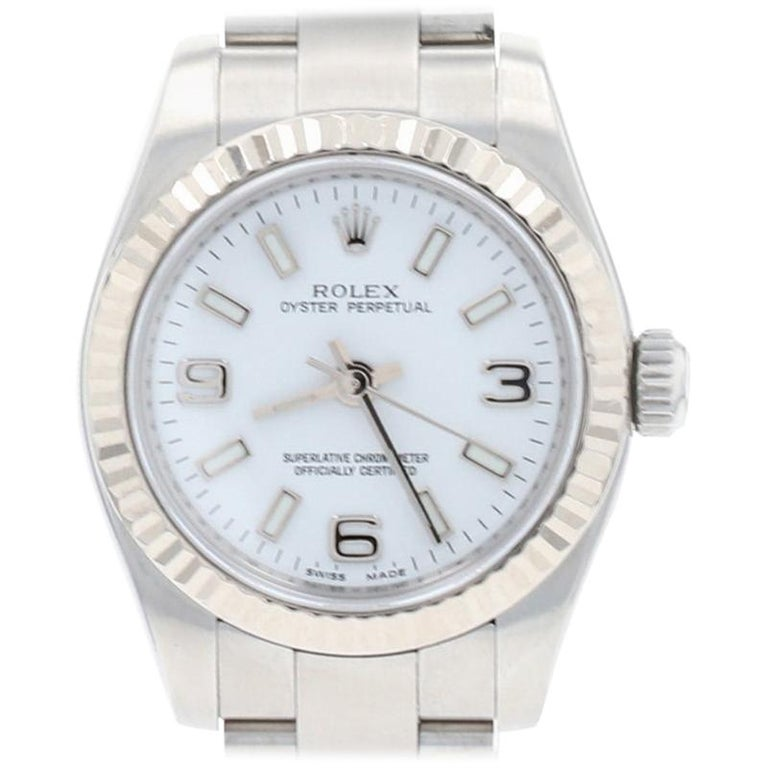 Rolex Oyster Perpetual Ladies Wristwatch, Stainless Automatic 2 Yr Wnty 176234 For Sale