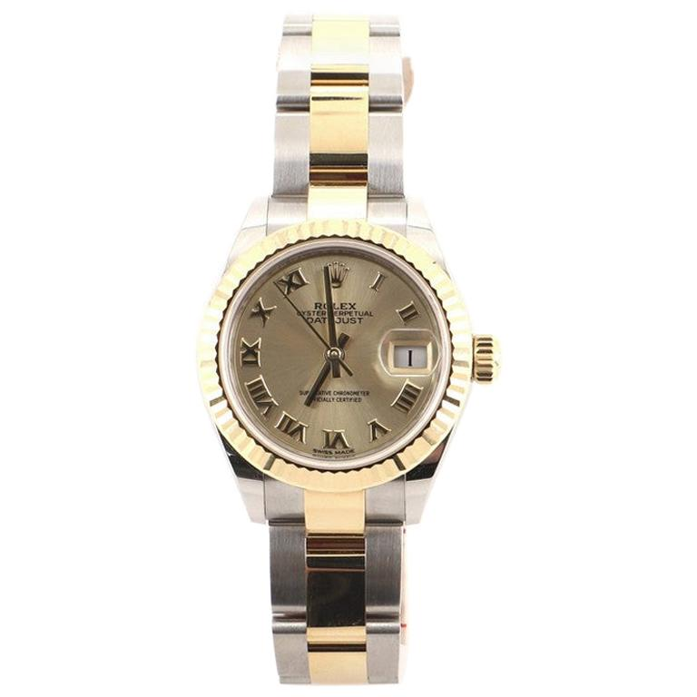 Rolex Oyster Perpetual Lady Datejust Automatic Watch Stainless Steel and