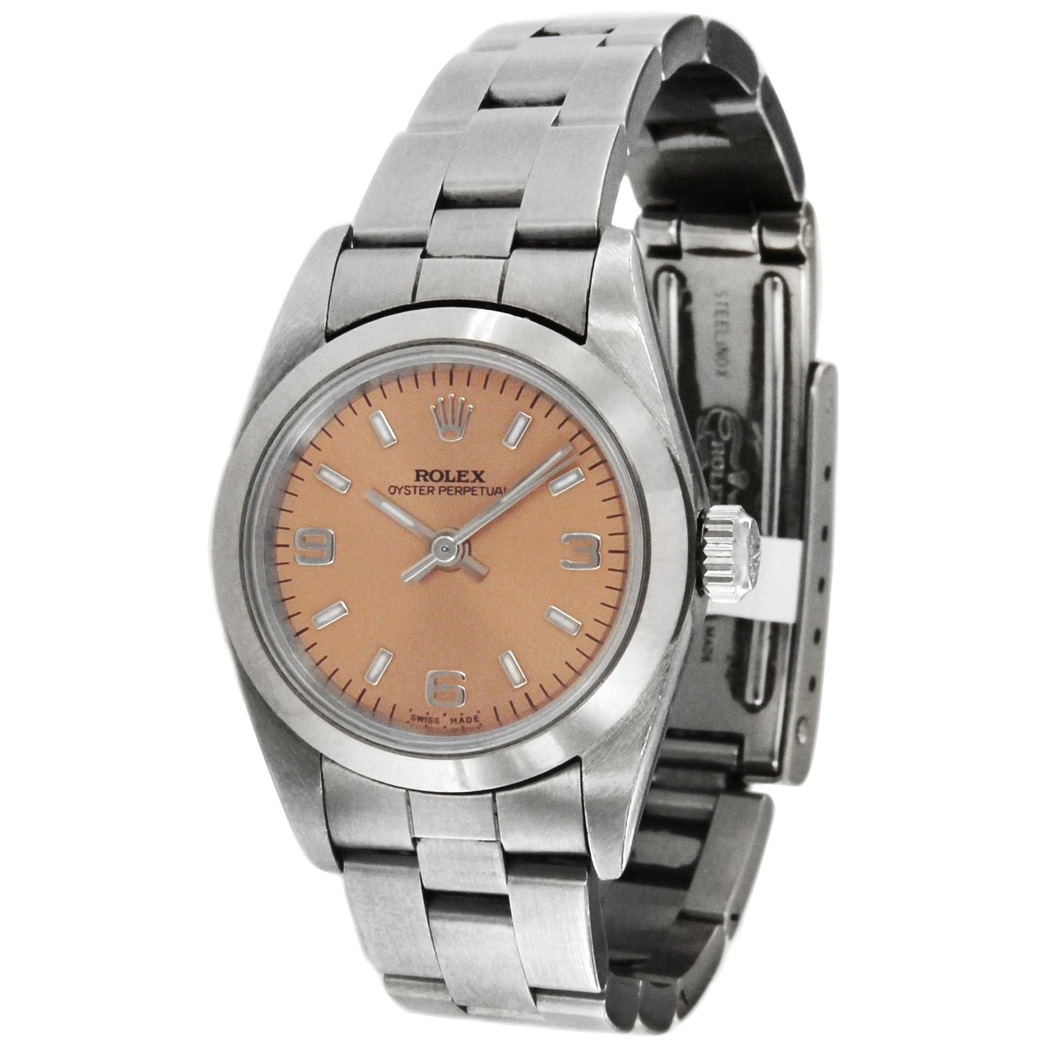Rolex Oyster Perpetual Lady Pink Dial Ref. 76080