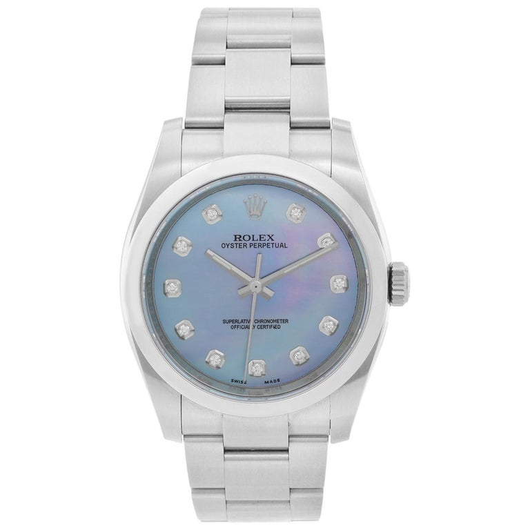 Rolex Oyster Perpetual Men's Stainless Steel Watch 116000 For Sale