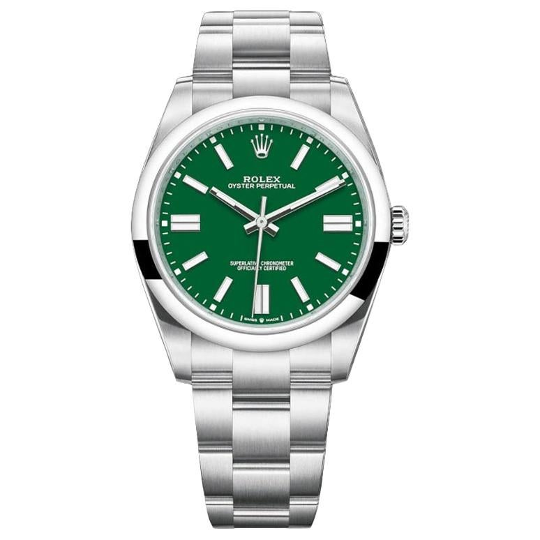Rolex Oyster Perpetual Men's Watch, 124300 Green