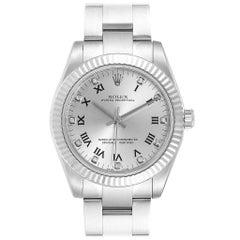 Rolex Oyster Perpetual Midsize Diamond Steel Ladies Watch 177234