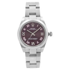 Rolex Oyster Perpetual No-Date Steel Grape Dial Ladies Watch 177200GR