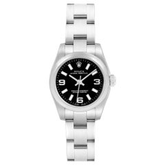 Rolex Oyster Perpetual Nondate Black Dial Ladies Watch 176200