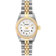 Rolex Oyster Perpetual NonDate Ladies Steel Yellow Gold Watch 67243