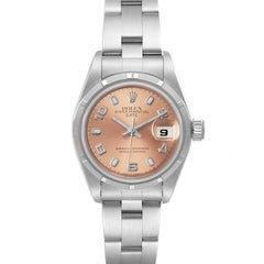 Rolex Oyster Perpetual Nondate Salmon Dial Steel Ladies Watch 69190 Box Papers