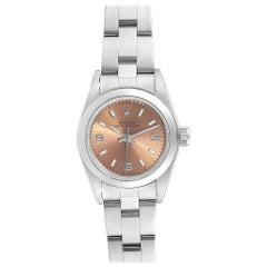 Rolex Oyster Perpetual Nondate Steel Ladies Watch 67180 Box Papers