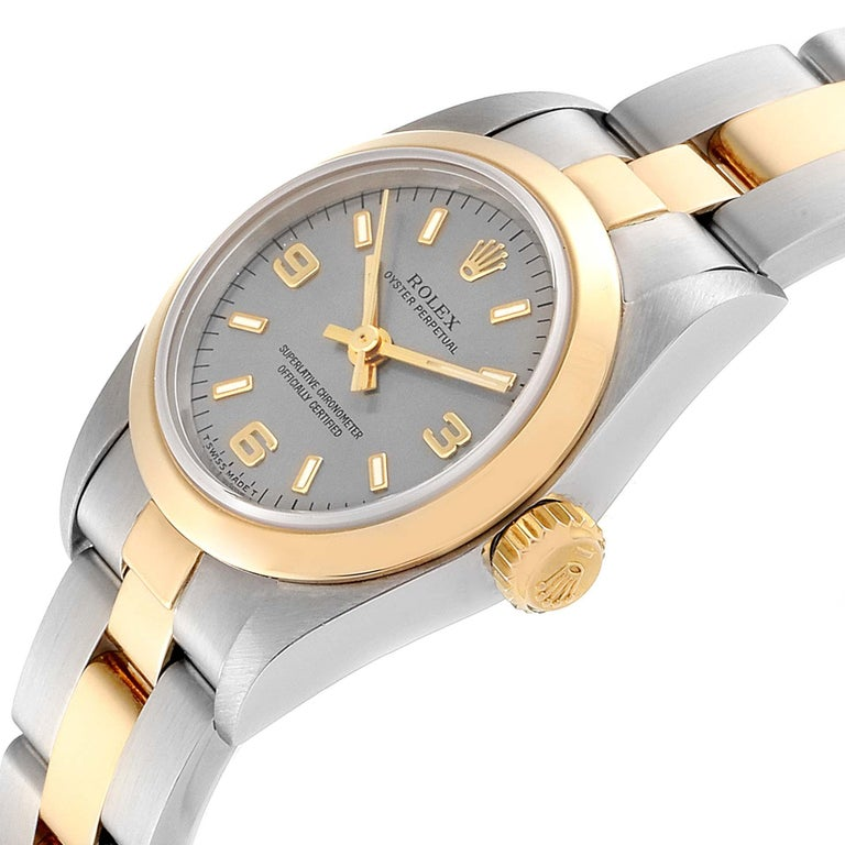 Rolex Oyster Perpetual NonDate Steel Yellow Gold Ladies Watch 67183 1