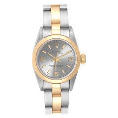 Rolex Oyster Perpetual NonDate Steel Yellow Gold Ladies Watch 67183
