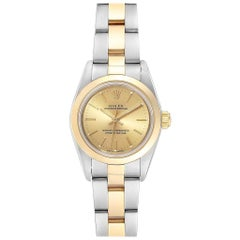 Rolex Oyster Perpetual nonDate Steel Yellow Gold Ladies Watch 76183