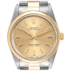 Rolex Oyster Perpetual Nondate Steel Yellow Gold Men's Watch 14203