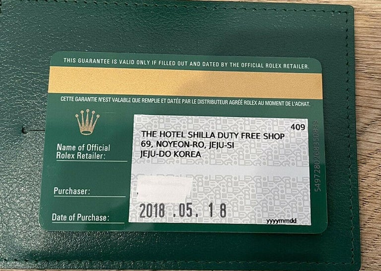 Rolex Oyster Perpetual Olive Green Stainless Steel Watch 114200 Box & Paper For Sale 2