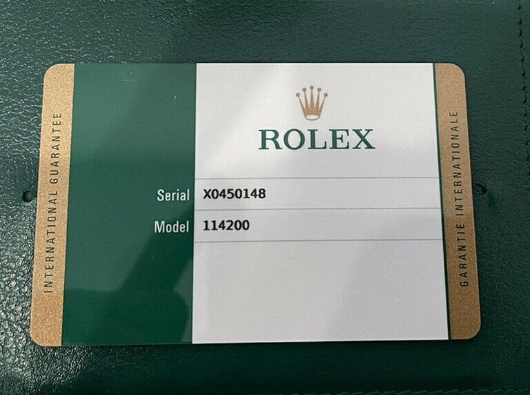 Rolex Oyster Perpetual Olive Green Stainless Steel Watch 114200 Box & Paper For Sale 3