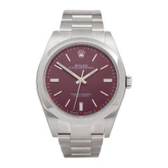 Rolex Oyster Perpetual Red Grape 39 Stainless Steel 114300 Wristwatch