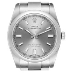 Rolex Oyster Perpetual Rhodium Dial Steel Men's Watch 116000