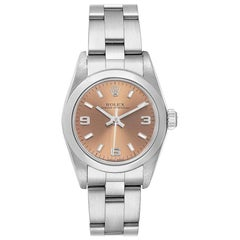 Rolex Oyster Perpetual Salmon Dial Steel Ladies Watch 76080