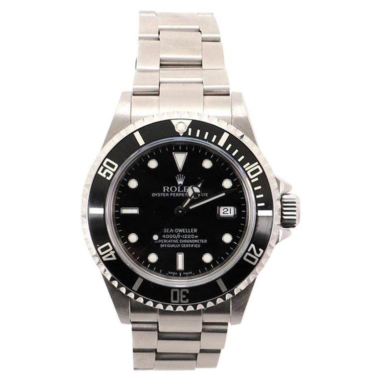 Rolex Oyster Perpetual Sea-Dweller Automatic Watch Stainless Steel
