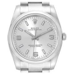 c69320c4156 Rolex Oyster Perpetual Silver Dial Domed Bezel Men's Watch 114200 Unworn