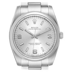 Rolex Oyster Perpetual Silver Dial Steel Men's Watch 114200 Unworn
