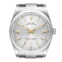 Rolex Oyster Perpetual Silver Dial Steel Men's Watch 126000 Unworn