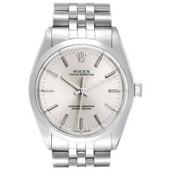 Rolex Oyster Perpetual Silver Dial Vintage Steel Men's Watch 1002