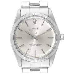 Rolex Oyster Perpetual Silver Dial Vintage Steel Men's Watch 1003