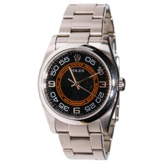 Rolex Oyster Perpetual Stainless Steel Automatic Black Dial Unisex Watch