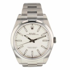 Rolex Oyster Perpetual Steel White Dial Watch 114300 Box Papers Basel 2018