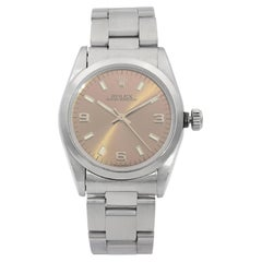 Rolex Oyster Perpetual Steel Bronze Dial Automatic Ladies Watch 67480
