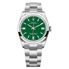 Rolex Oyster Perpetual 41mm Steel Green Dial Men's Oyster Bracelet Watch 124300