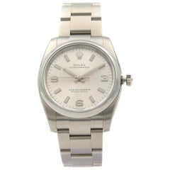 Rolex Oyster Perpetual Steel Silver Dial Automatic Unisex Watch 114200