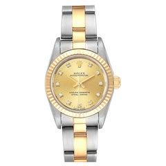 Rolex Oyster Perpetual Steel Yellow Gold Diamond Ladies Watch 76193