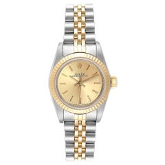 Rolex Oyster Perpetual Steel Yellow Gold Ladies Watch 67193 Box