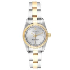 Rolex Oyster Perpetual Steel Yellow Gold Ladies Watch 76243 Box Papers