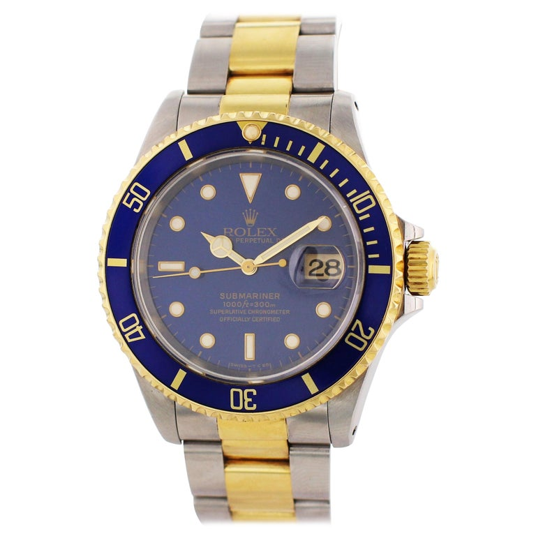Rolex Oyster Perpetual Submariner Date 16613 Men's Watch For Sale