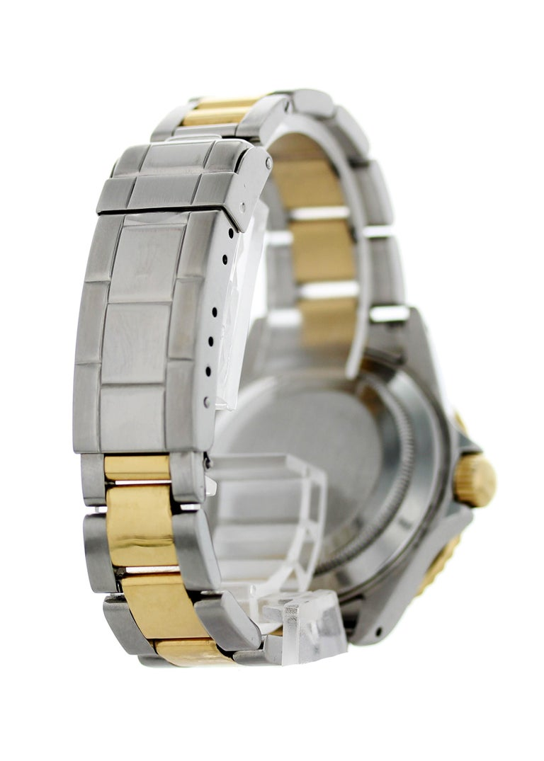 Men's Rolex Oyster Perpetual Submariner Date 18 Karat 16613 Men's Watch For Sale