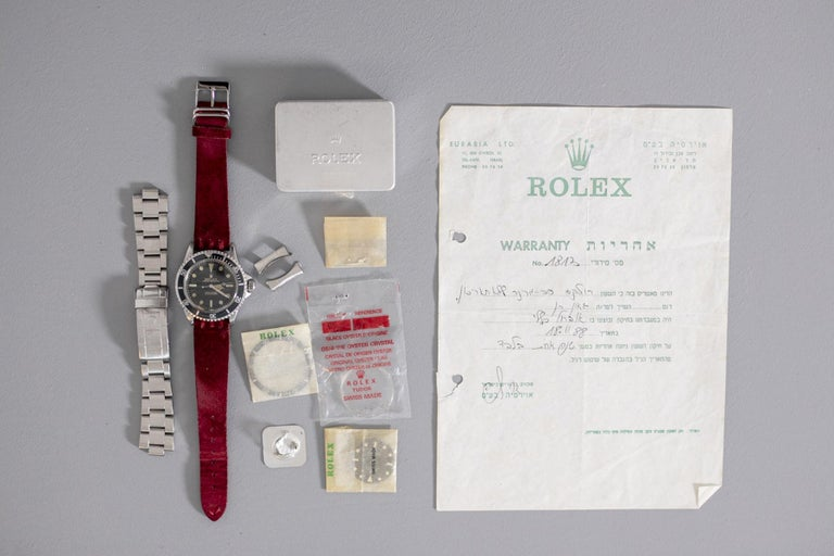 Rolex Oyster Perpetual Submariner, ref. 5513 Underline Gold Graphics 1963 For Sale 7