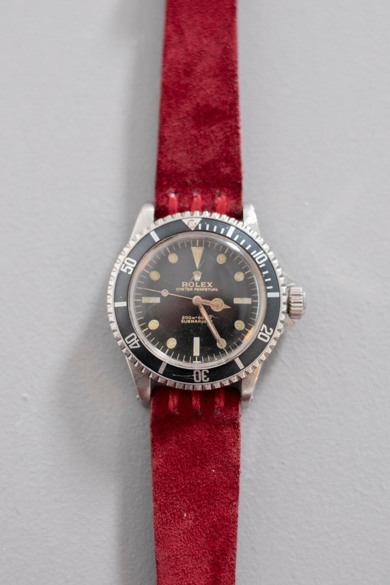 Rolex Oyster Perpetual Submariner, ref. 5513 Underline Gold Graphics 1963 For Sale 12